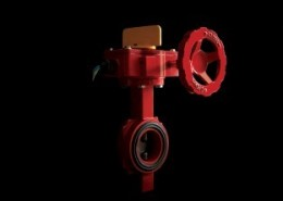 BUTTERFLY VALVE WITH SUPERVISORY SWITCH